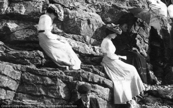 Photo of Weston Super Mare, Ladies On The Rocks 1902