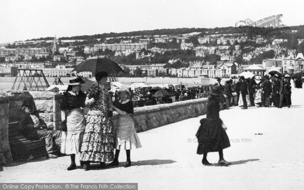 Photo of Weston Super Mare, Mother And Daughters, Victoria Parade 1887