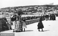Mother And Daughters, Victoria Parade 1887, Weston-Super-Mare