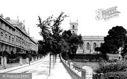 Weston-Super-Mare, Oriel Terrace And St John's Church 1887