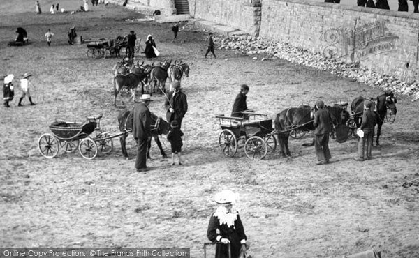 Photo of Weston Super Mare, Pony Carts On The Sands 1904