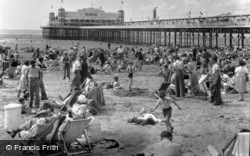 Sands And Pier c.1950, Weston-Super-Mare