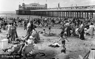 Weston-super-Mare, Sands and Pier c1950