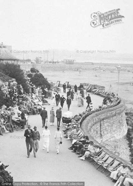 Photo of Weston Super Mare, The Busy Promenade, Madeira Cove 1923