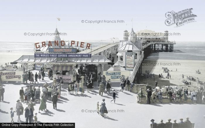 Photo of Weston Super Mare, The Grand Pier c.1955
