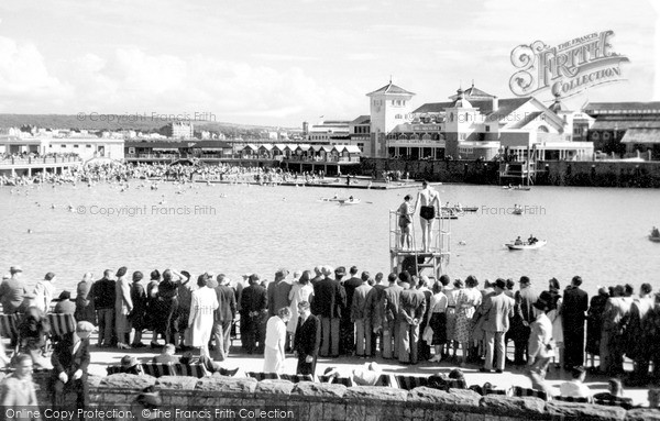 Photo of Weston Super Mare, The Marine Lake c.1950