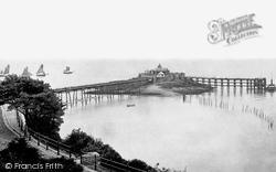 Weston-Super-Mare, The Pier Above Kewstoke Road 1887