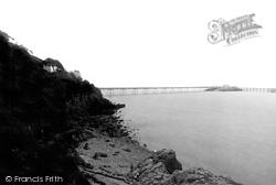 Weston-Super-Mare, The Pier From Birnbeck Beach 1887