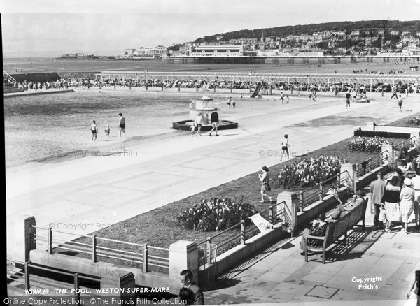 Photo of Weston Super Mare, The Pool c.1950