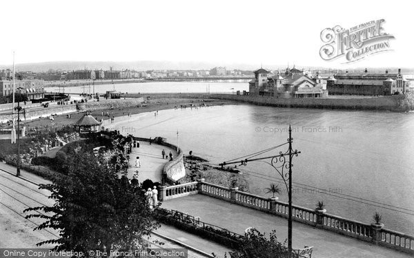 Photo of Weston Super Mare, Two Bays And Pavilion 1913