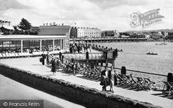 View Showing Rozel Bandstand c.1955, Weston-Super-Mare