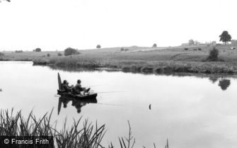 Weston under Redcastle, Hawkstone Park, Fishing on the Lake c1965