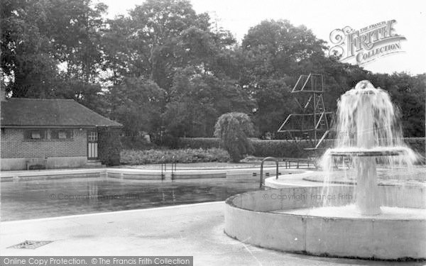 Photo of Weston Under Redcastle, Hawkstone Park Hotel, The Swimming Pool c.1950
