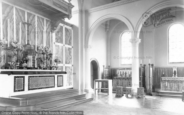 Photo of Weston Under Redcastle, St Joseph's Church Interior, Hawkstone Hall c.1965