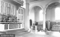 Weston Under Redcastle, St Joseph's Church Interior, Hawkstone Hall c.1965