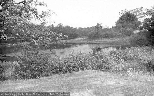 Photo of Weston Under Redcastle, The Lake, Hawkstone Park Hotel c.1950