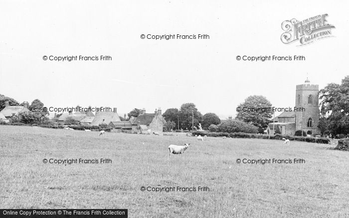 Photo of Weston Underwood, St Laurence's Church And Village c.1955