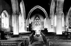St Mary Magdalene Church, Interior c.1955, Westoning