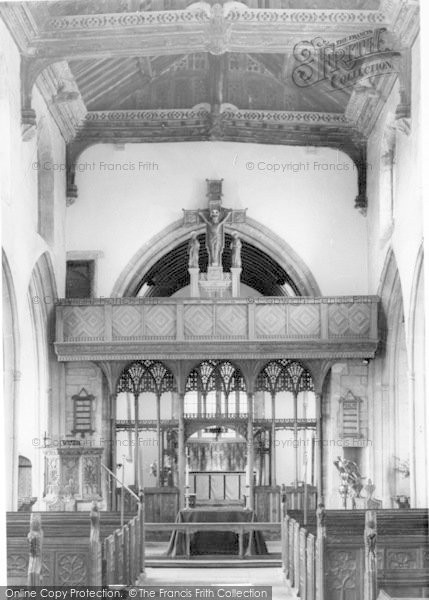 Photo of Westonzoyland, Church Of St Mary The Virgin Interior c.1955