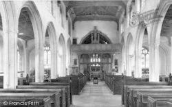 Westonzoyland, The Church Interior c.1955