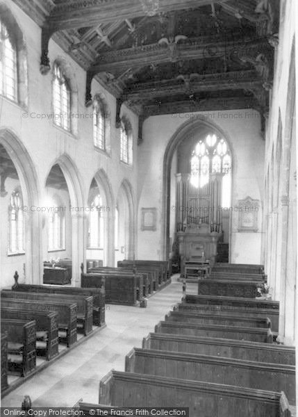 Photo of Westonzoyland, The Church Interior c.1955