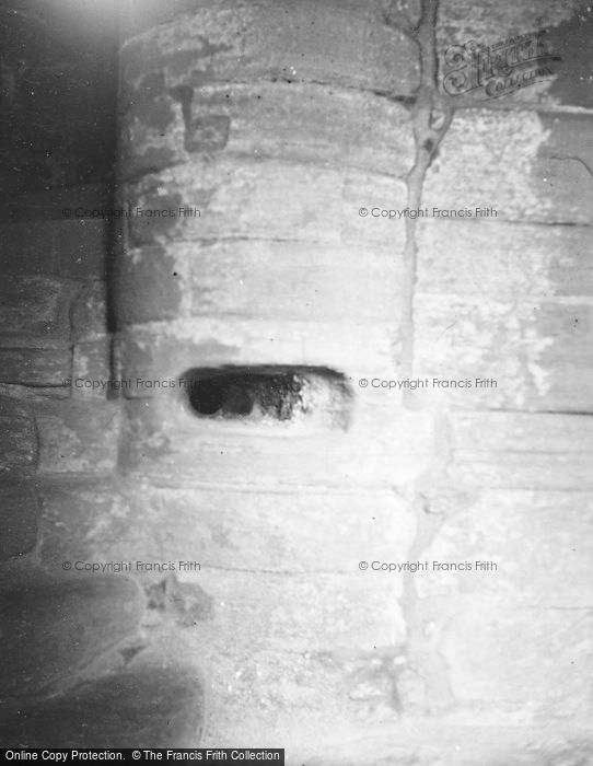 Photo of Westray, Noltland Castle, Stair Newel 1954