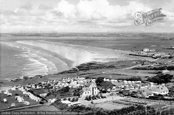 Photo of Westward Ho!, From Kipling Tors c.1955