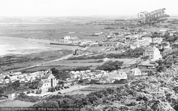 Photo of Westward Ho!, From The Tors c.1955