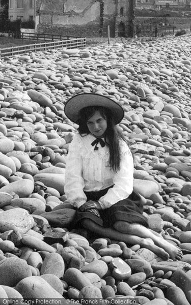 Photo of Westward Ho!, Girl On Pebble Ridge 1906