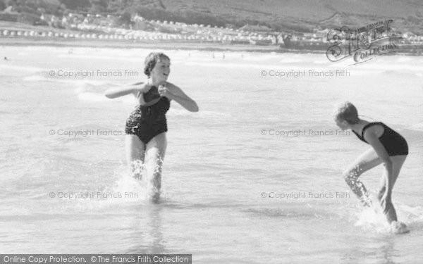 Photo of Westward Ho!, Girls In The Sea c.1960