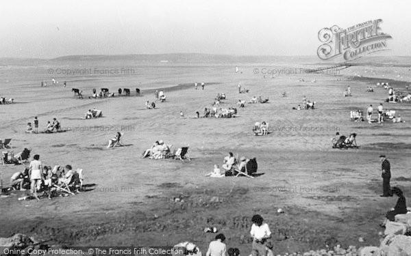 Photo of Westward Ho!, The Beach And Pebble Ridge c.1955