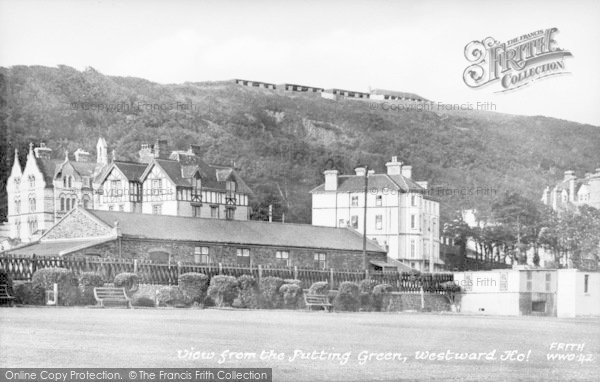 Photo of Westward Ho!, View From The Putting Green c.1955