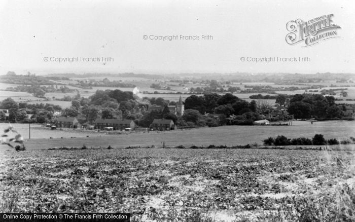 Photo of Westwell, General View From Pilgrim's Way c.1960