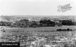 Westwell, General View From Pilgrim's Way c.1960