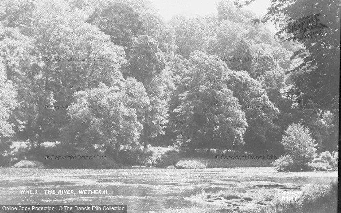 Photo of Wetheral, The River c.1955