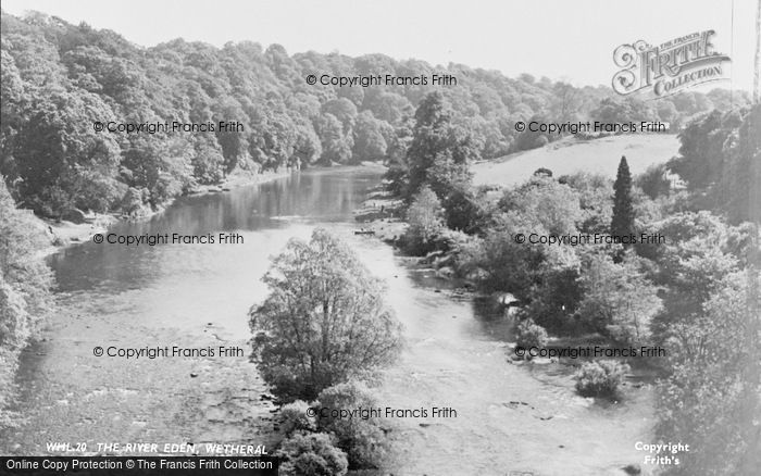 Photo of Wetheral, The River Eden c.1955