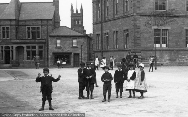 Photo of Wetherby, Children In The Market Place 1909