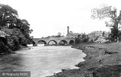 River Wharfe And Bridge 1909, Wetherby