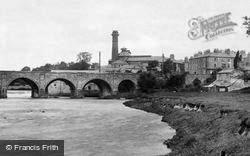 Wetherby, River Wharfe And Bridge 1909