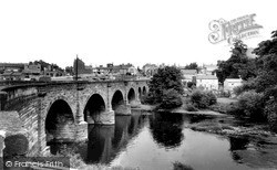 The Bridge Over The River Wharfe c.1965, Wetherby