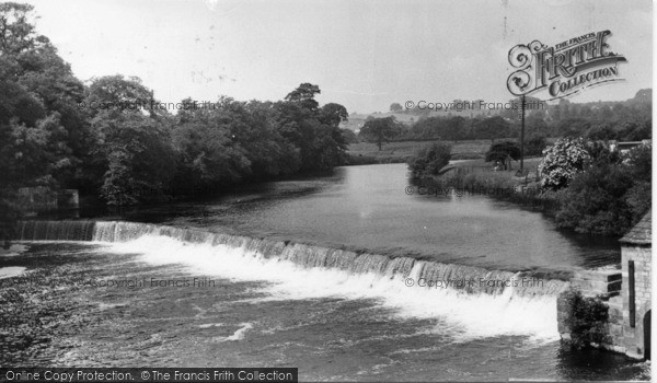 Photo of Wetherby, The Weir And River Wharfe c.1955