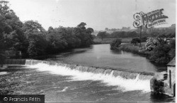 The Weir And River Wharfe c.1955, Wetherby