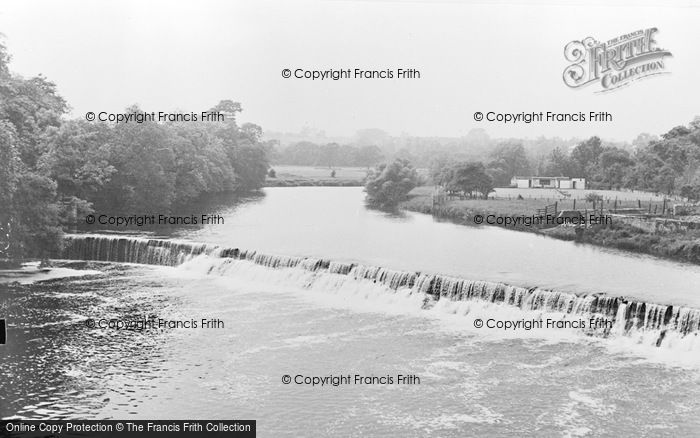 Photo of Wetherby, The Weir c.1960