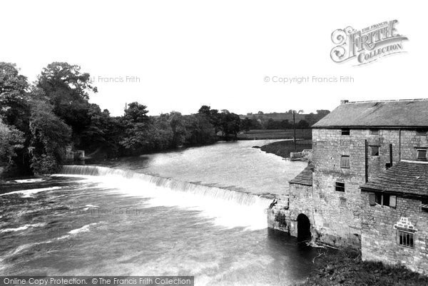 Photo of Wetherby, The Weir From The Bridge 1909