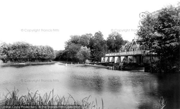 Weybridge,  Boat Station on River Wey 1897  (Neg. 40013)  © Copyright The Francis Frith Collection 2008. http://www.francisfrith.com