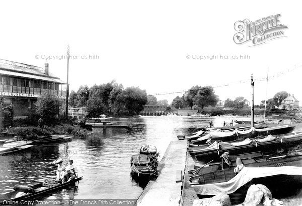 Weybridge, Boat Station & River Thames River Wey, photo c1903.  (Neg.49908)  © Copyright The Francis Frith Collection 2008. http://www.francisfrith.com