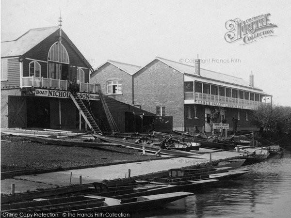 Photo of Weybridge, Boathouses 1897