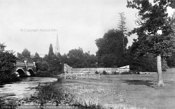 Photo of Weybridge, Bridge And Church 1890