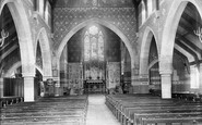 Weybridge, Church of St Michael and All Angels, interior 1904