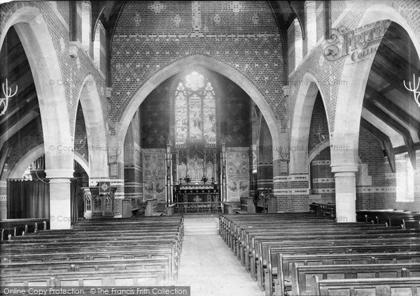 Photo of Weybridge, Church of St Michael and All Angels, interior 1904